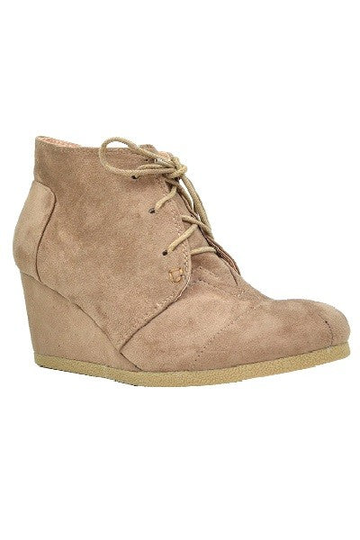 Wedge Heel Booties - Multiple Colors Available