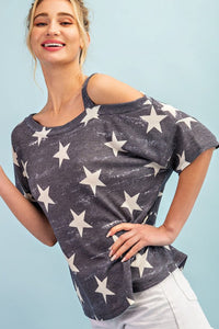 OH MY STARS ONE SHOULDER TOP