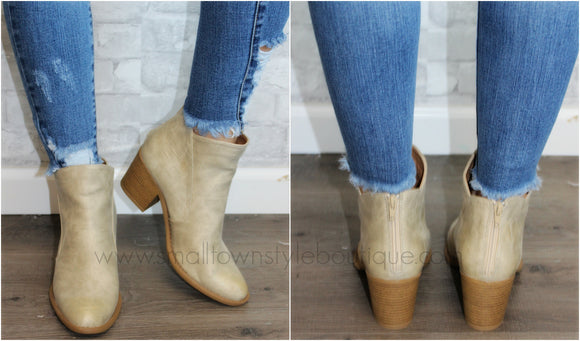 Stone Ankle Booties