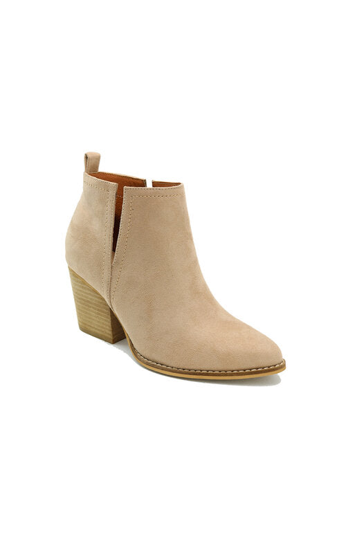 Peep Side Slit Bootie - Multiple Colors