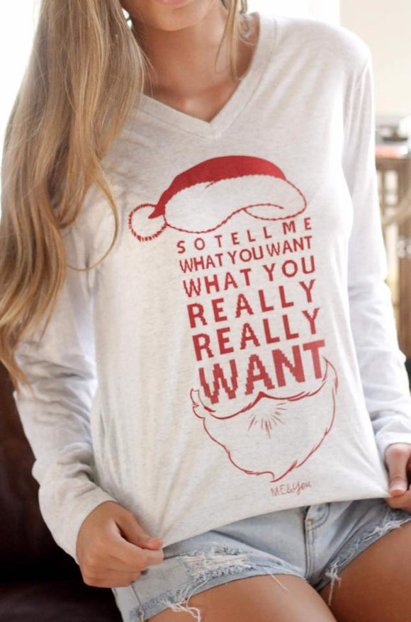 Mommy + Me : Tell Me What You Want - Christmas Graphic Tee