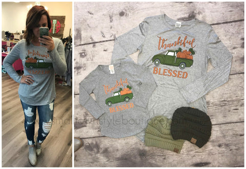 Thankful Blessed-- Mommy & Me Top