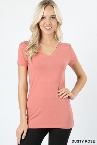 Basic V-Neck Tee - Multiple Colors