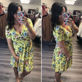 Maternity / Nursing - Yellow Spring Floral Dress