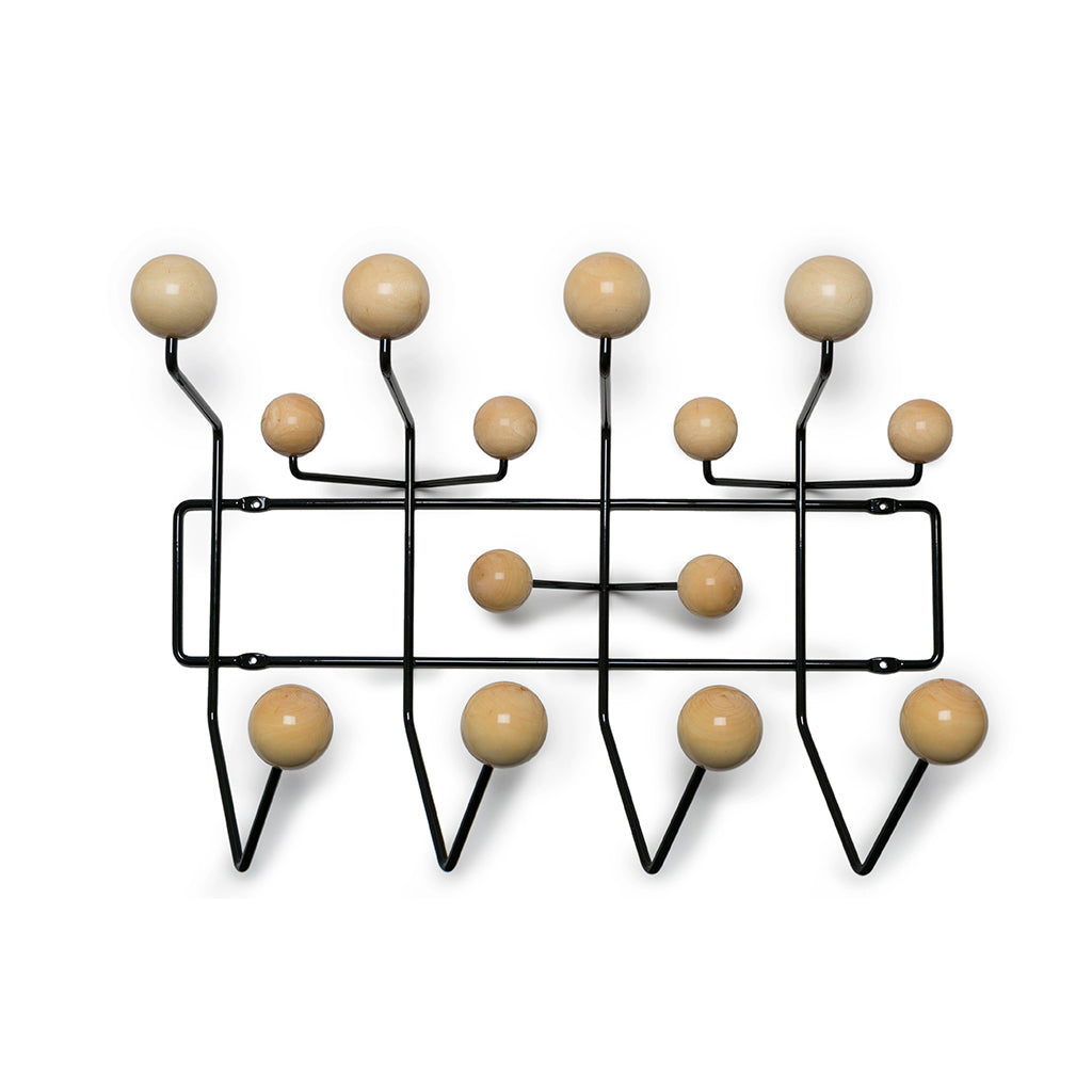 Eames Hang-It-All natural knobs black frame