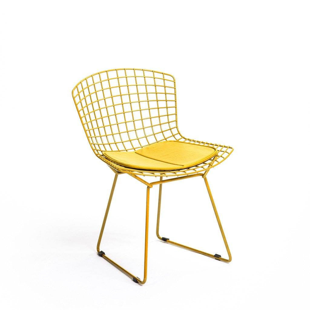 Yellow Bertoia Side Chair