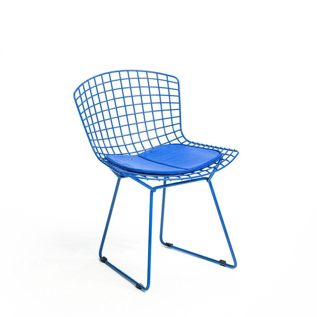 Blue Bertoia Side Chair