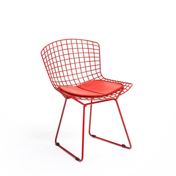Red Bertoia Side Chair