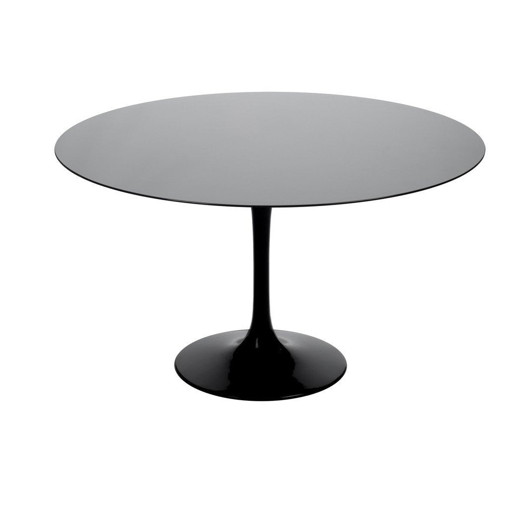 Black Saarinen Tulip Table with black top
