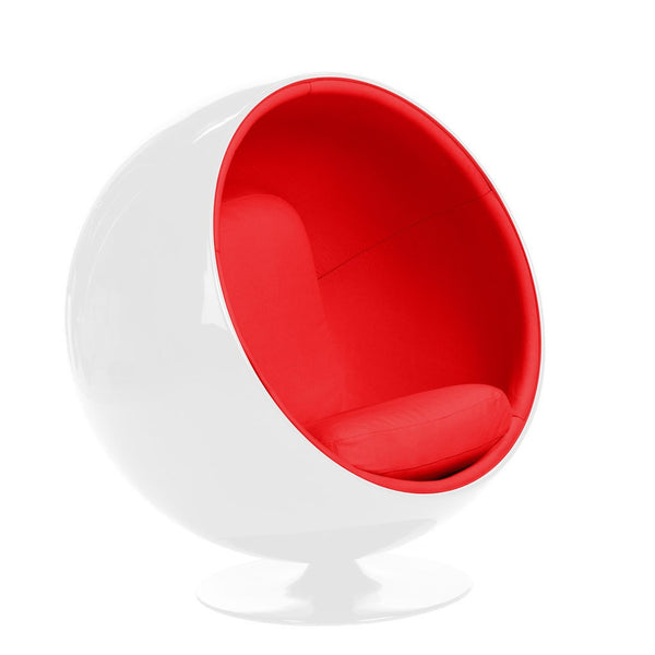 Eero Aarnio Ball Chair White/Red