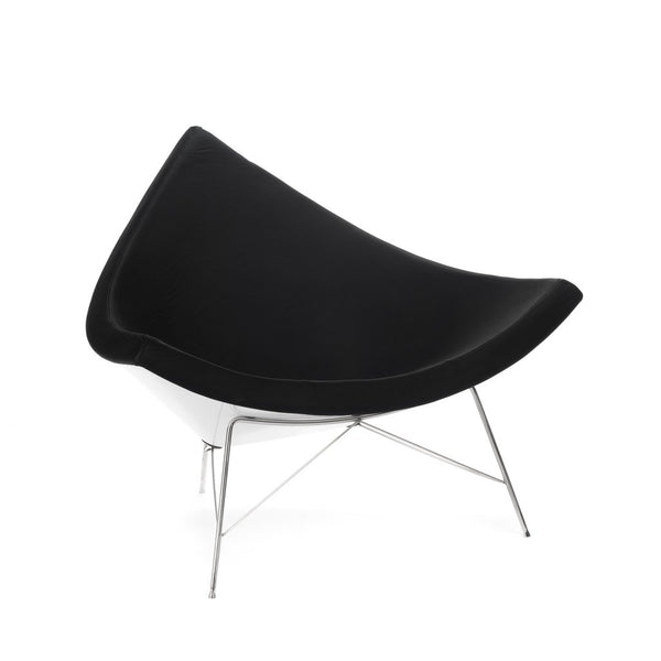 Nelson Coconut Chair black leather
