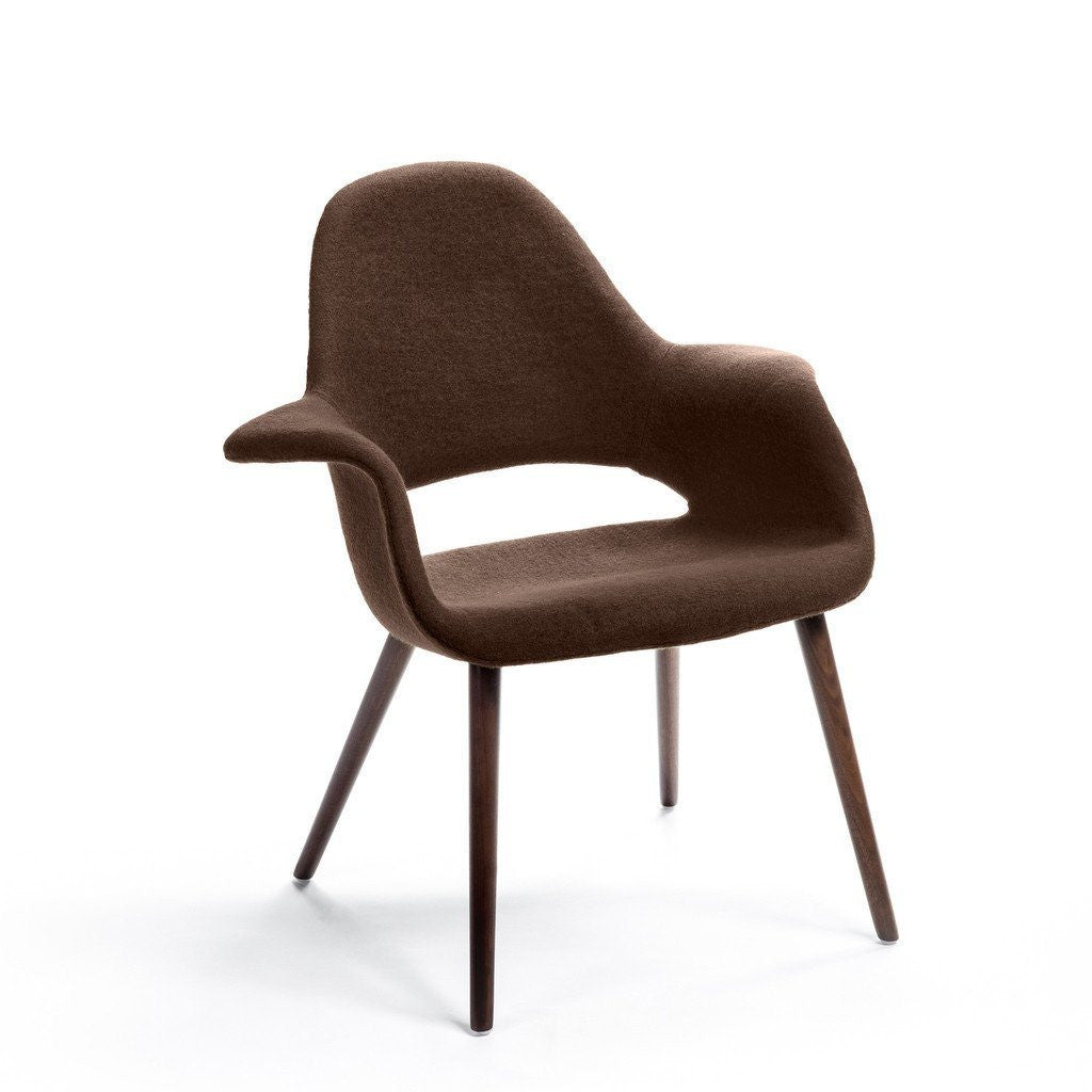 Brown Eames-Saarinen Organic Chair