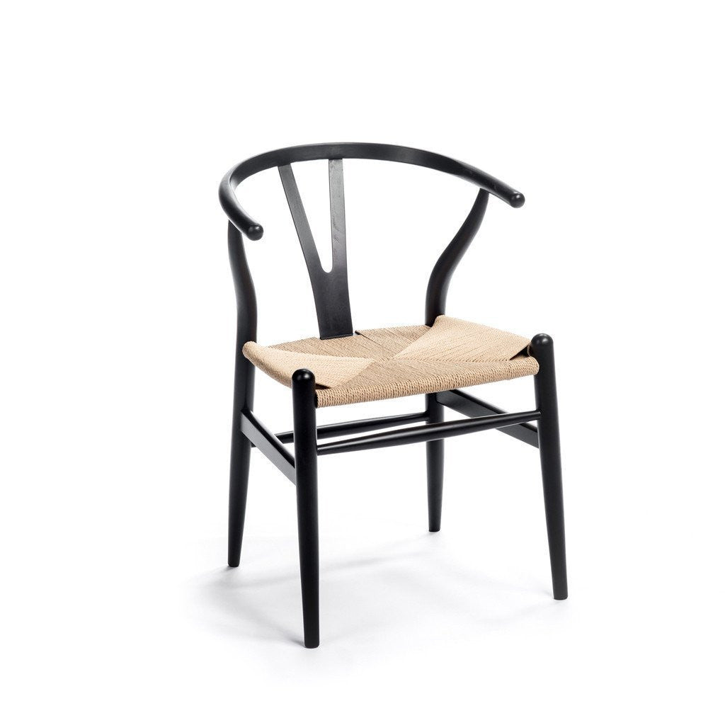 CH24 Wishbone Chair black