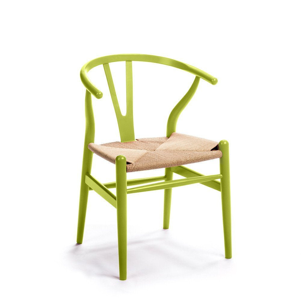 CH24 Wishbone Chair lime