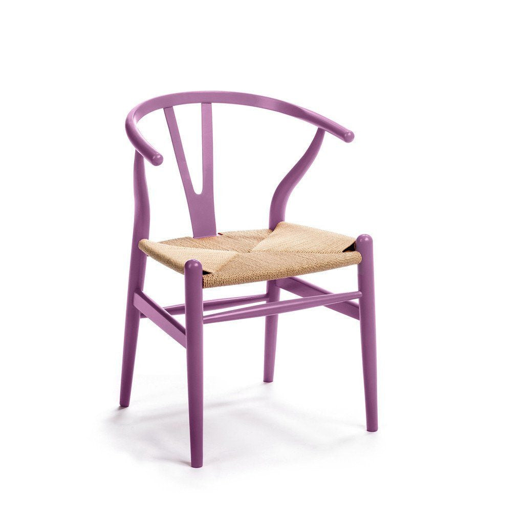 CH24 Wishbone Chair purple