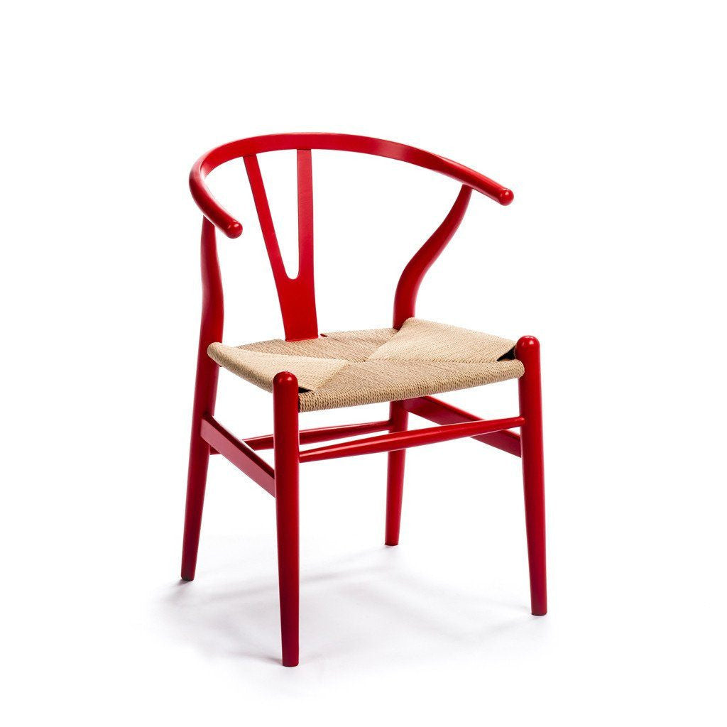 CH24 Wishbone Chair red