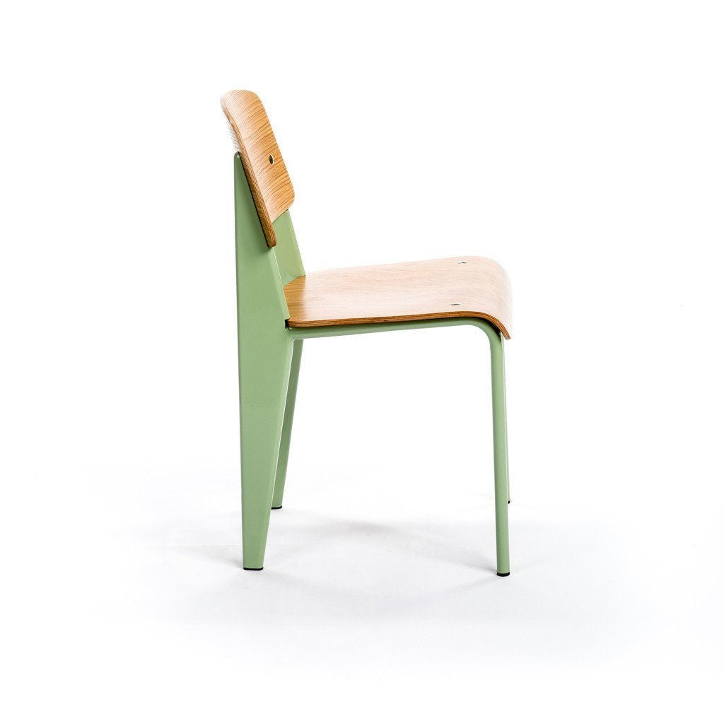 Prouvé Standard Chair jade metal ash wood