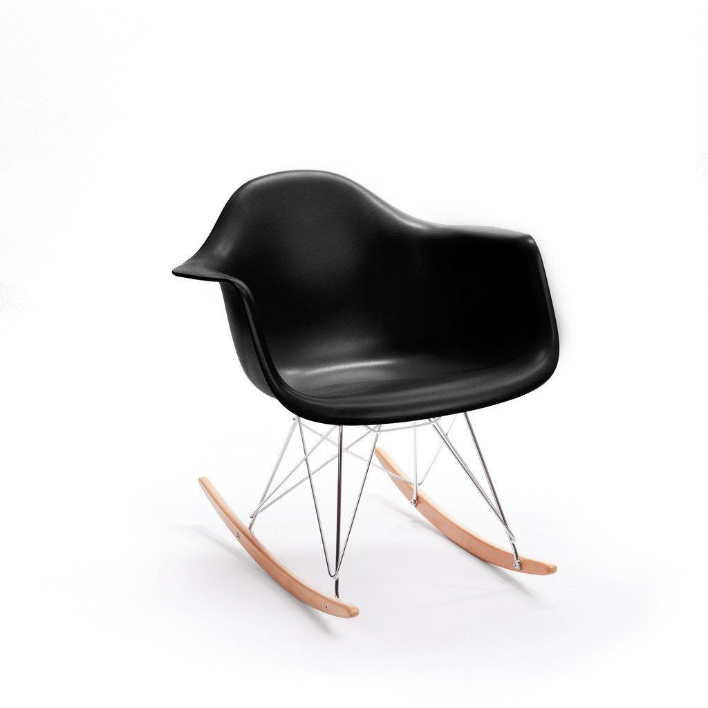 Black Eames RAR Rocking Chair