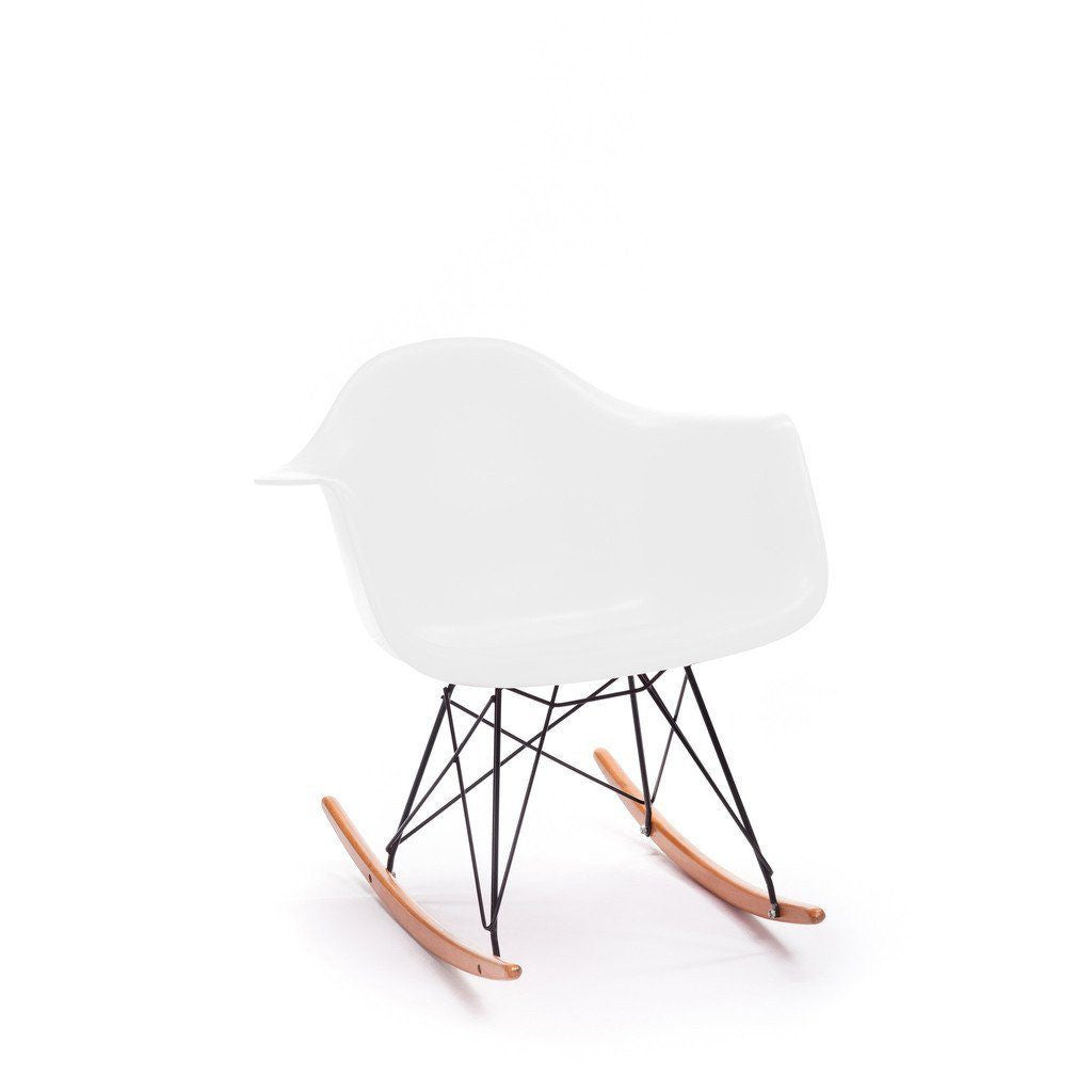 White Eames RAR Rocking Chair