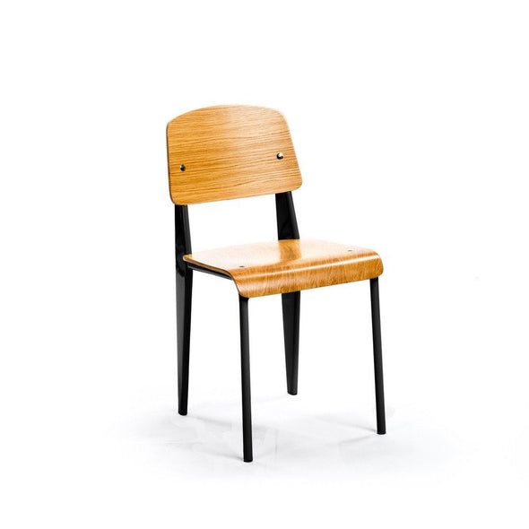 Prouvé Standard Chair black metal ash wood