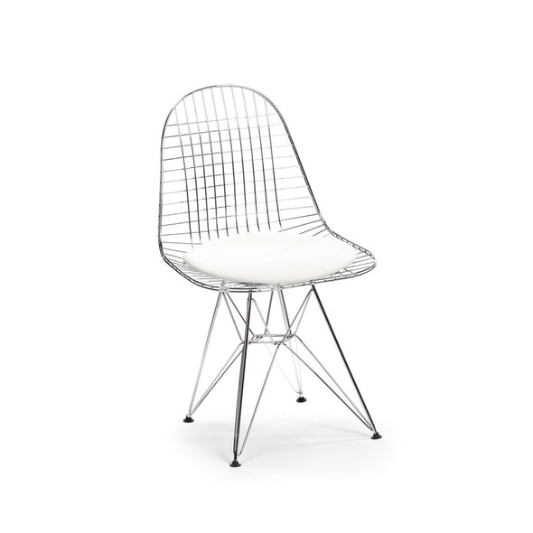 Eames DKR Eiffel Chair chrome/white