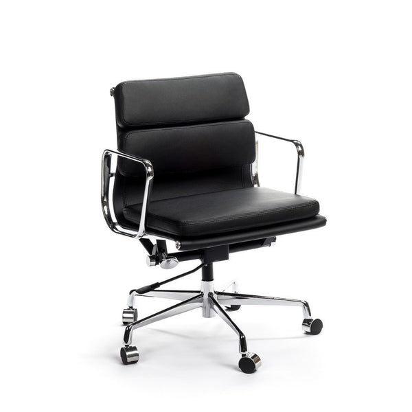 Eames Soft-Pad office chair in black leather