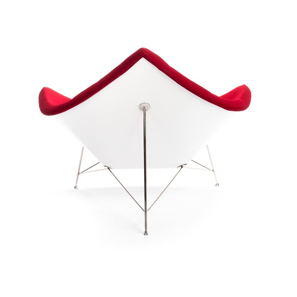 Nelson Coconut Chair red wool
