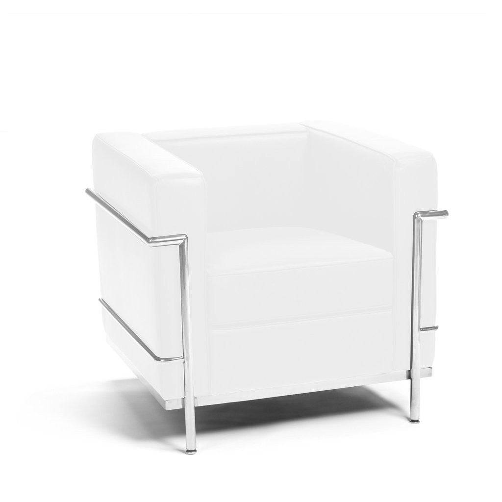 Le Corbusier LC2 Armchair white leather