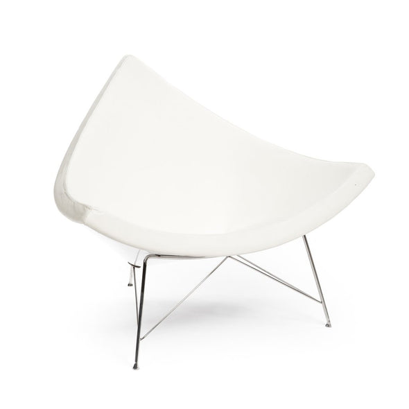 Nelson Coconut Chair white leather