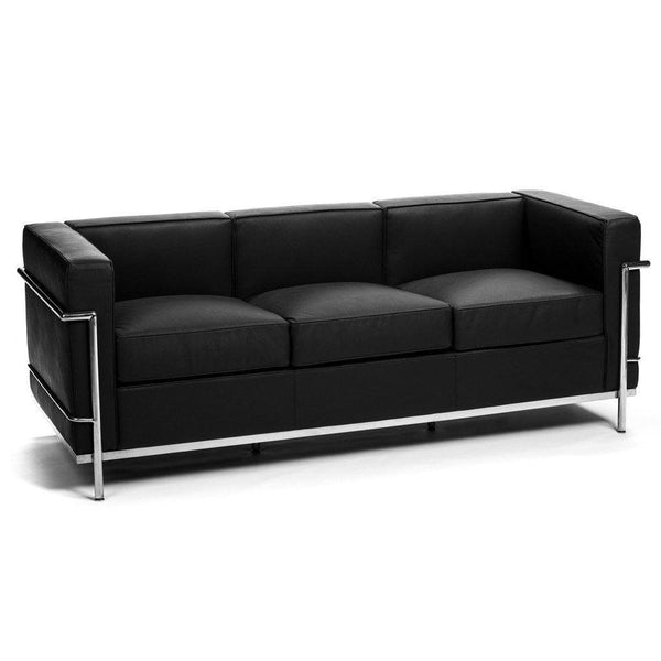 Le Corbusier LC2 Sofa black leather
