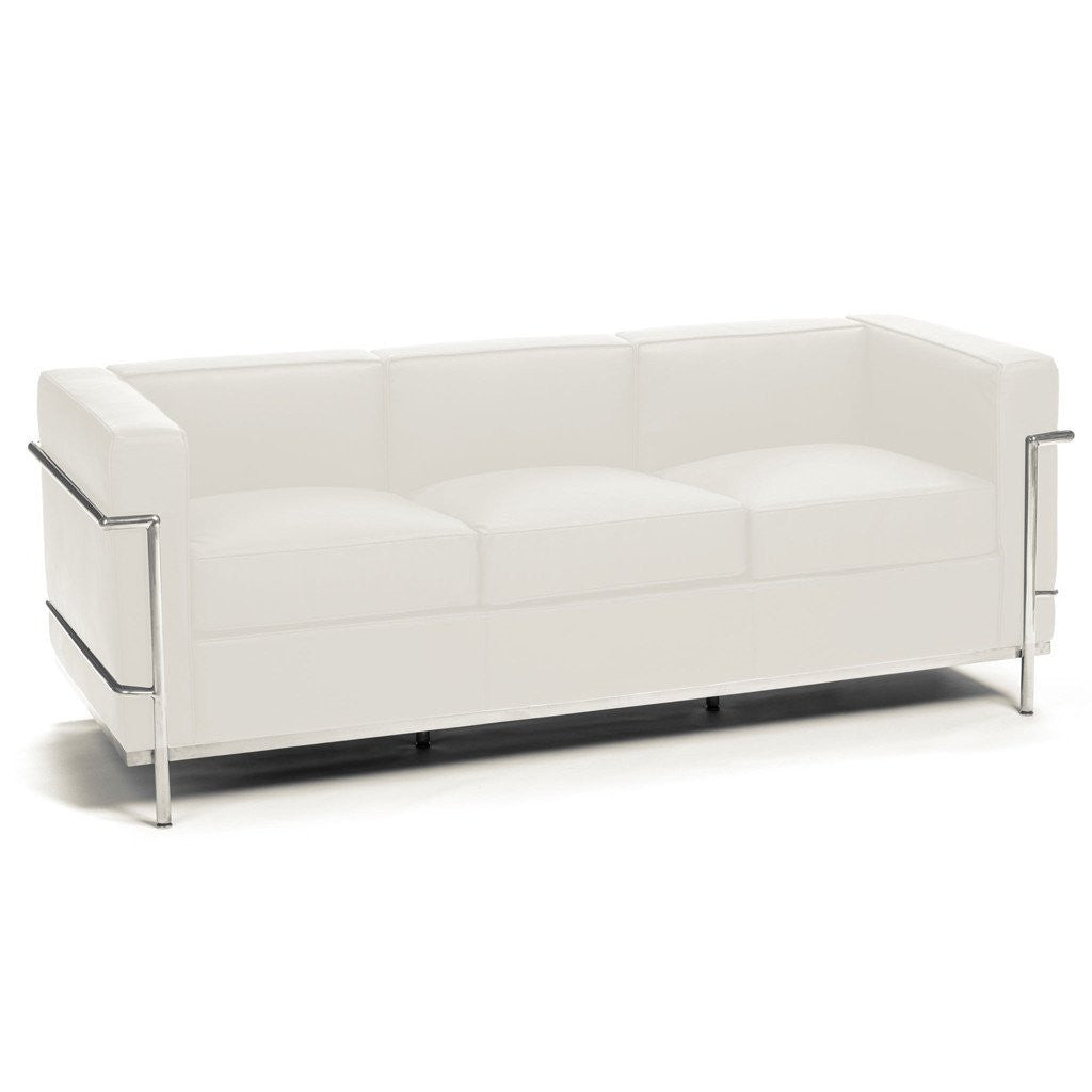 Le Corbusier LC2 Sofa white leather