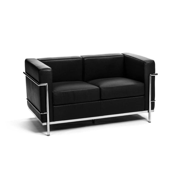 Le Corbusier LC2 Loveseat black leather