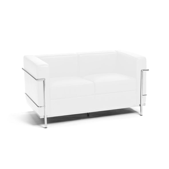 Le Corbusier LC2 Loveseat white leather