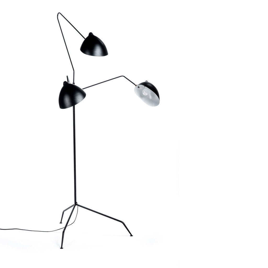 Serge mouille three arm floor lamp Serge mouille three arm floor lamp