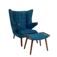 Wegner Papa Bear Chair Indigo