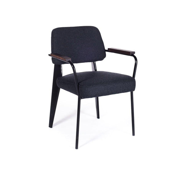 Fauteuil Direction charcoal and black