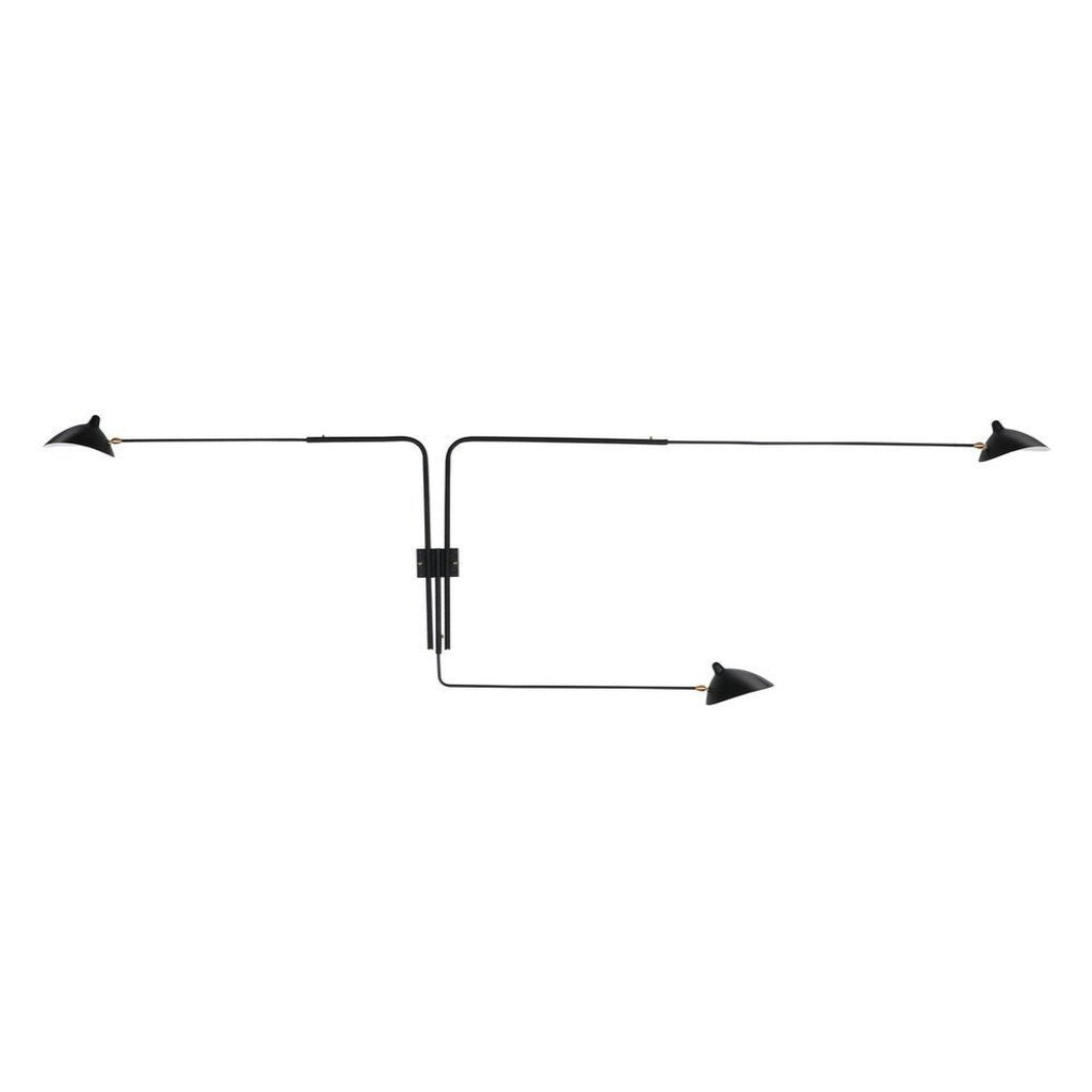 Serge Mouille Three-Arm Rotating Wall Lamp