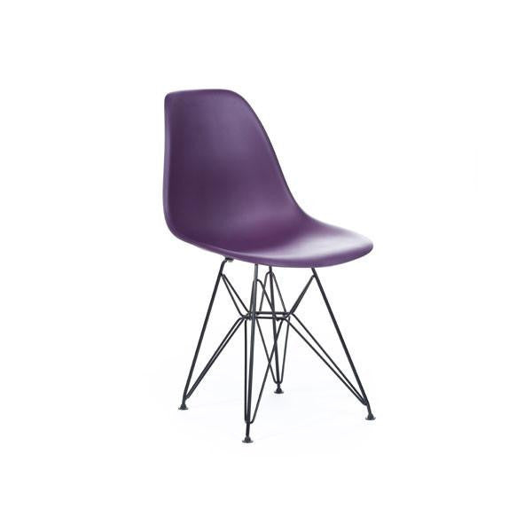 Purple Eames DSR Chair with black base