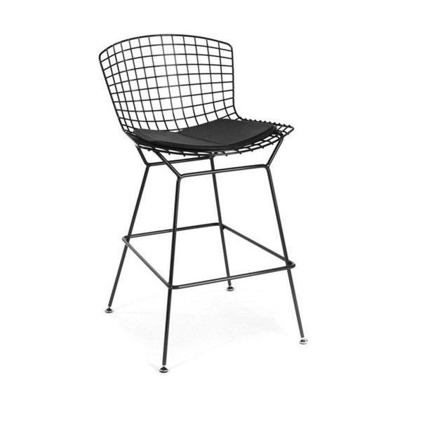 Black Bertoia Counter Stool