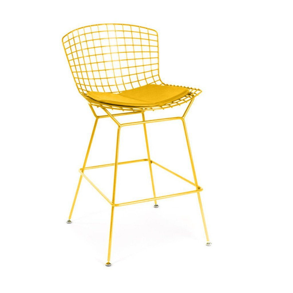 Yellow Bertoia Counter Stool