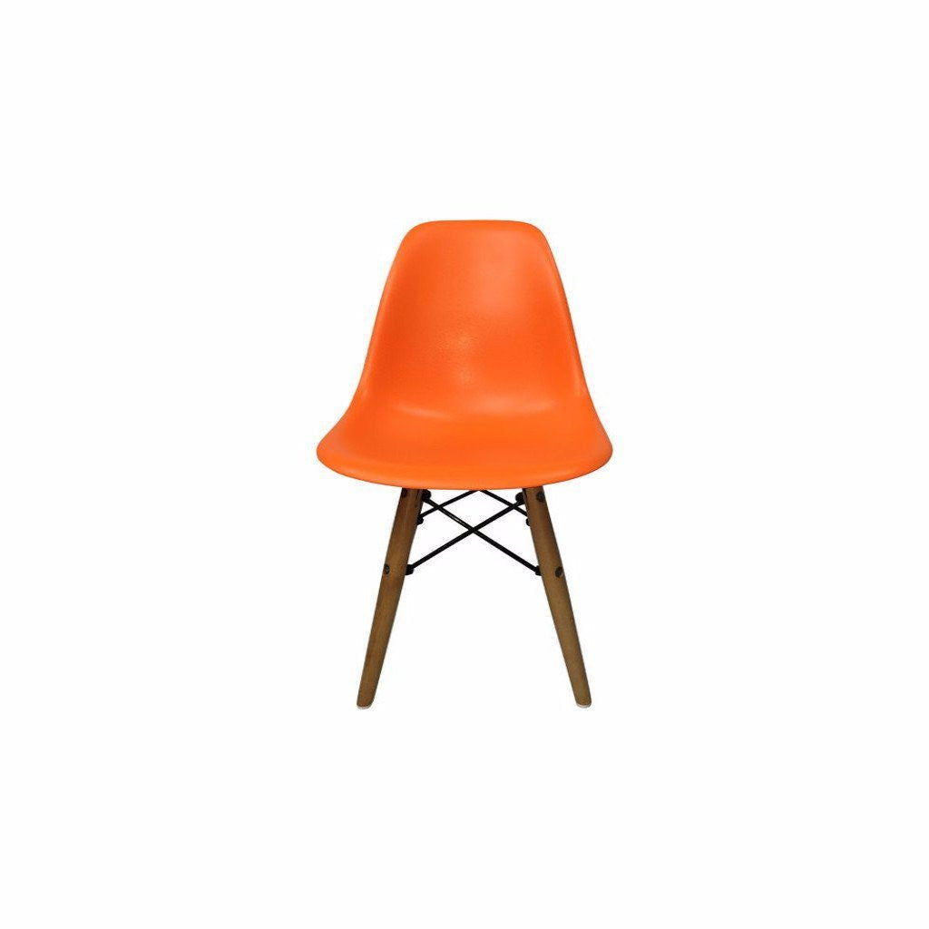 Orange Eames DSW Chair for Kids