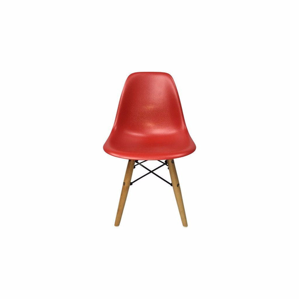 Red Eames DSW Chair for Kids