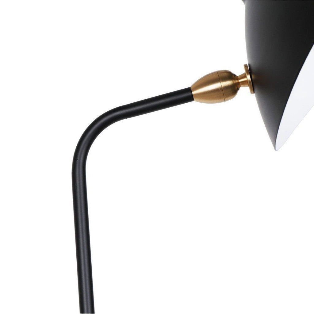 mouille one-arm floor lamp closeup