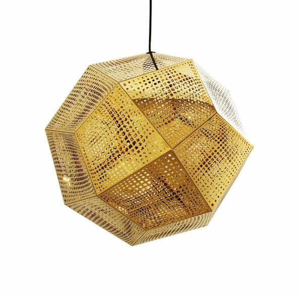 Tom Dixon Etch Shade Pendant Lamp Gold