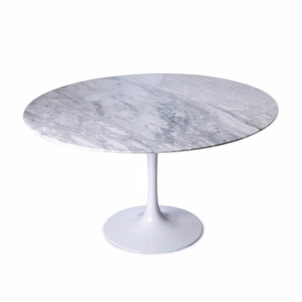 White Saarinen Tulip Table With Marble Top ...