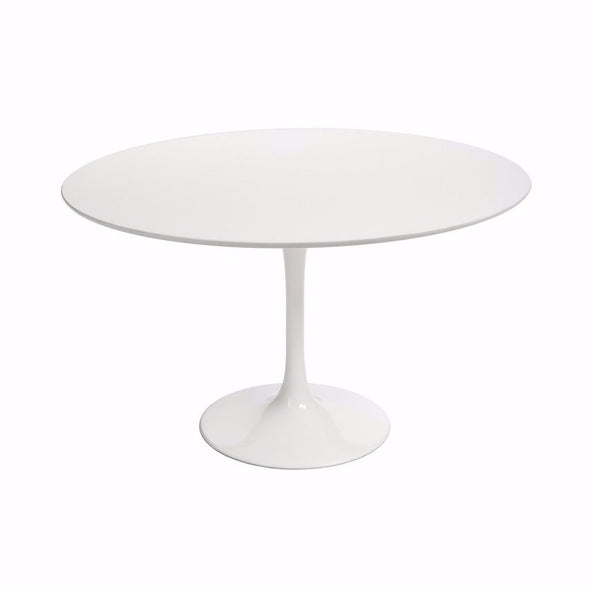 White Saarinen Tulip Table with white top