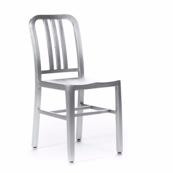 Navy Chair brushed aluminum