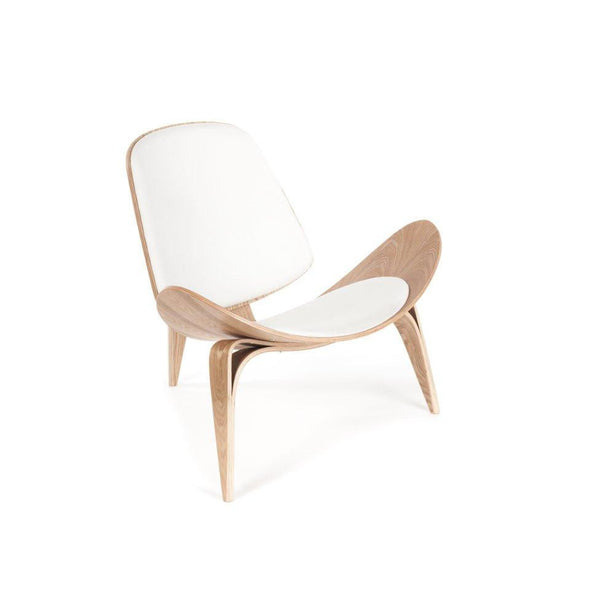 Wegner Shell Chair white leather