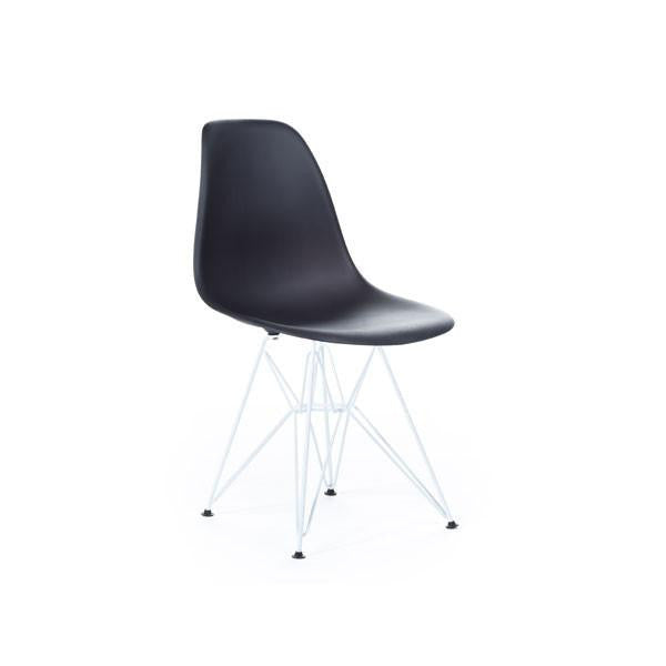 White Eames DSR Chair with white base