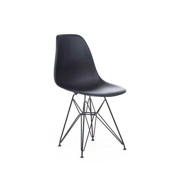 White Eames DSR Chair with black base